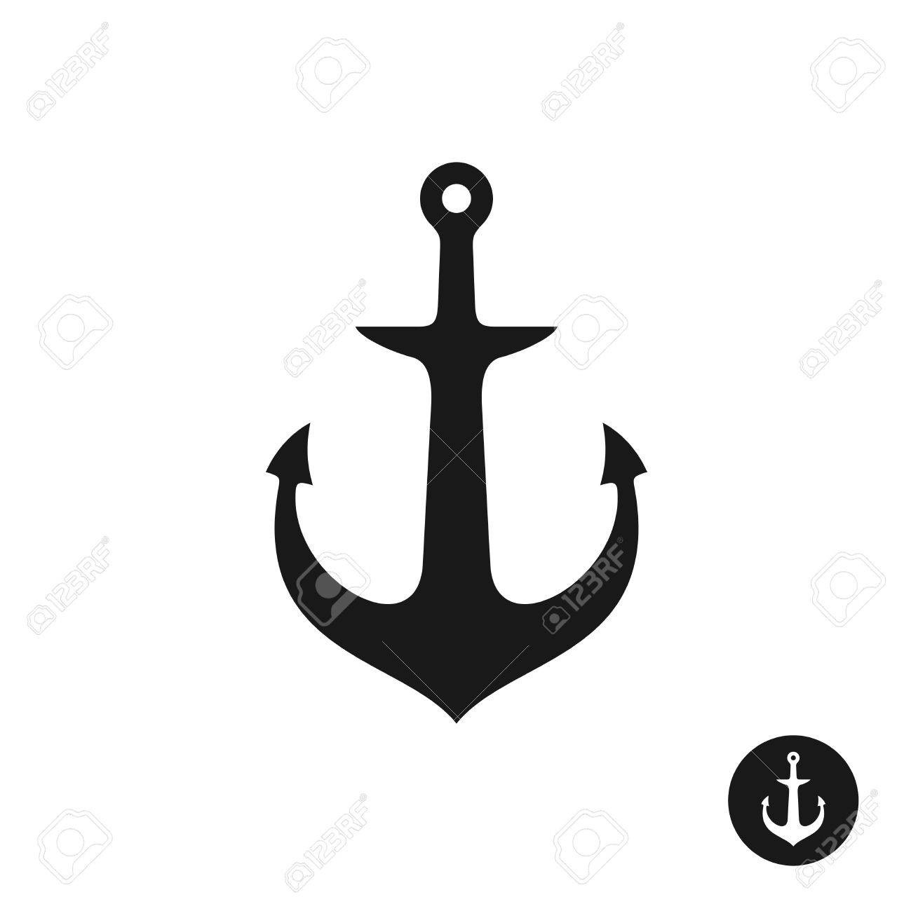 1299x1300 Ship Anchor Simple Black One Piece Silhouette Marine Symbol