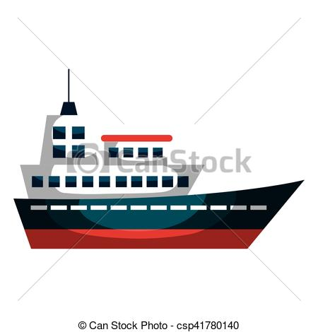 450x470 Cruise Ship Silhouette Isolated Icon Vector Illustration Eps