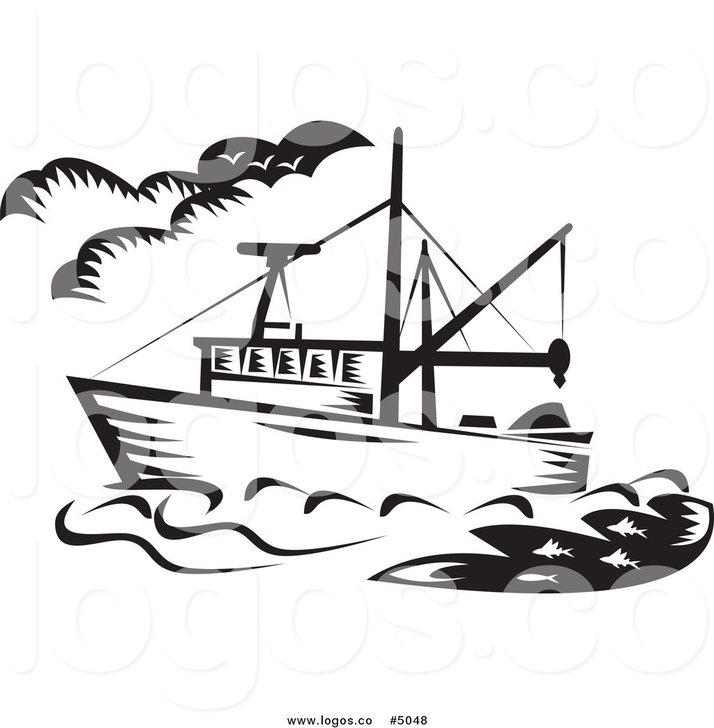 1024x1044 Fishing Boat Clipart Black And White