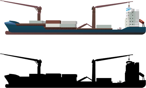 466x283 Free Vector Cargo Ships Free Vector Download (634 Free Vector)