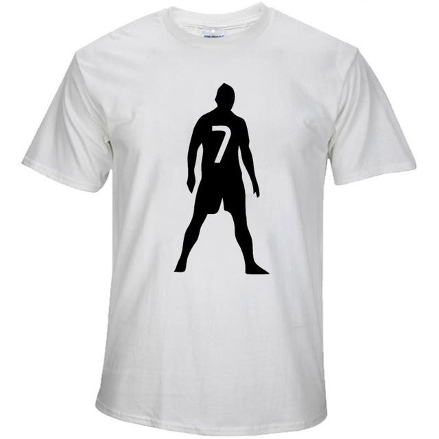 640x640 2017 Summer C Lo Number 7 Free Ball Silhouette T Shirt Real Madrid
