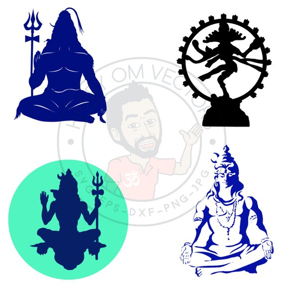 570x570 Lord Shiva Vector Svg Dxf For Silhouette Cameo Or Cricut