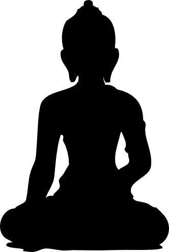 332x494 Lovely Sitting Shiva Silhouette Template, Stencil, Sjabloon. Great