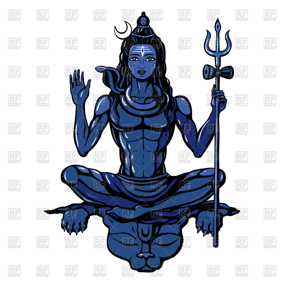 1200x1200 Hindu God Lord Shiva Royalty Free Vector Clip Art Image