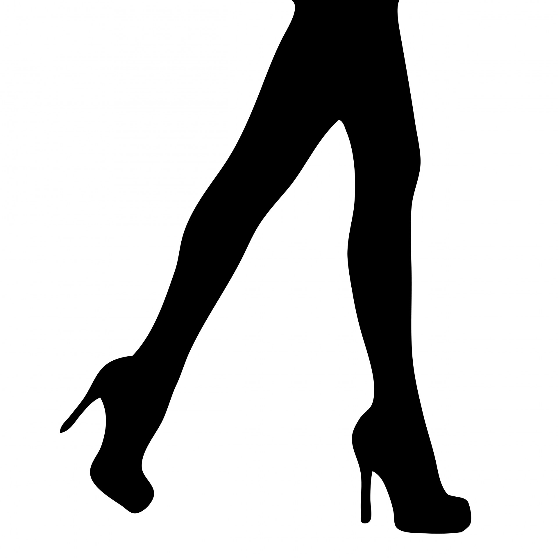1920x1920 Lady Heels Silhouette Clipart Collection