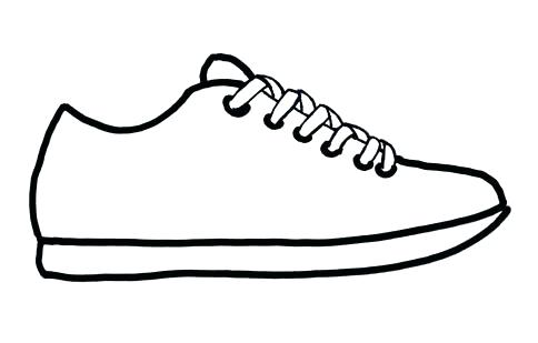 484x309 Outline Shoes Royalty Free Vectors And Stock Outline Shoes Running