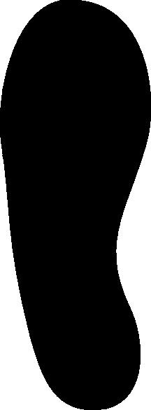 216x587 Shoe Print Clip Art