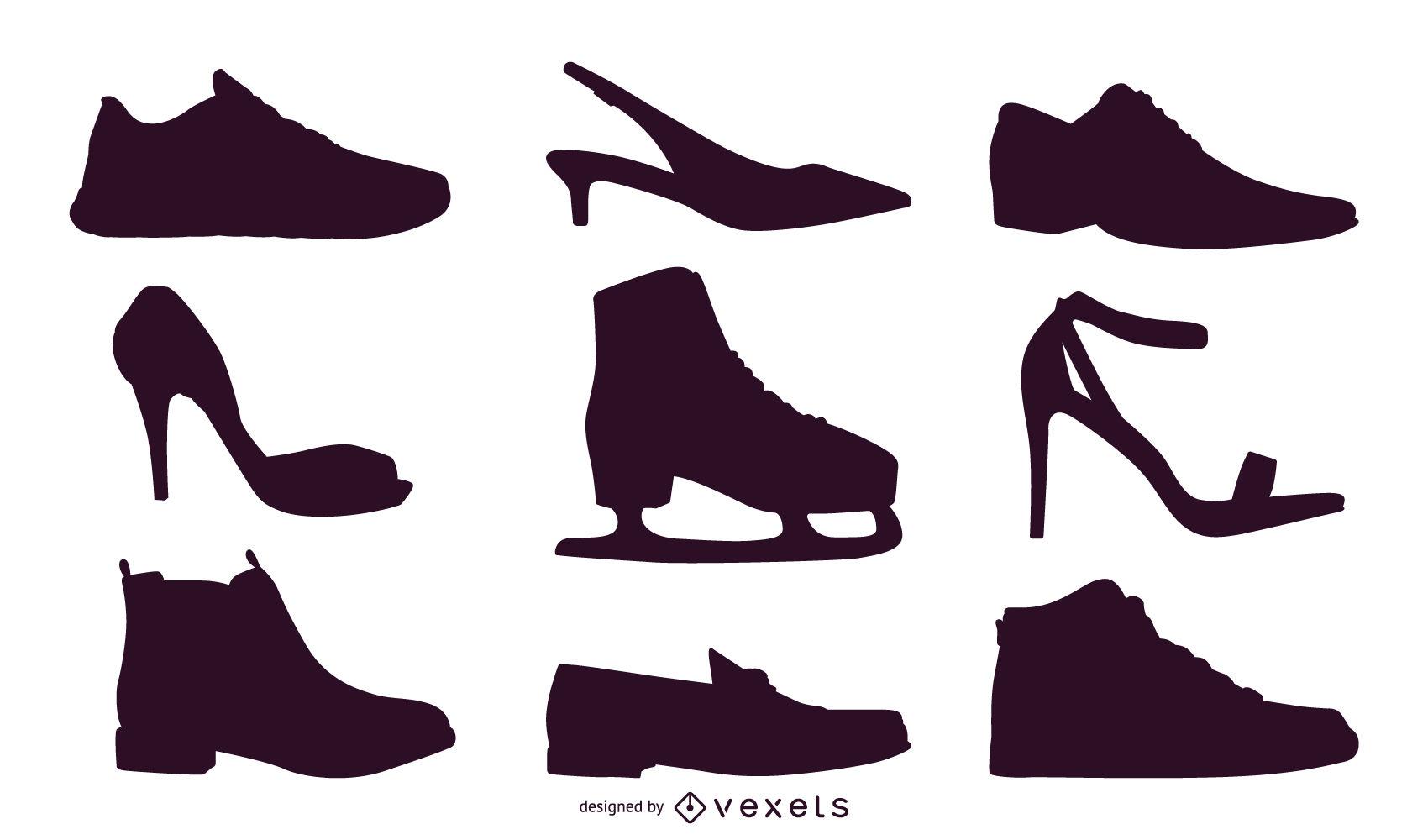 1700x1000 Shoe Vectors Silhouettes