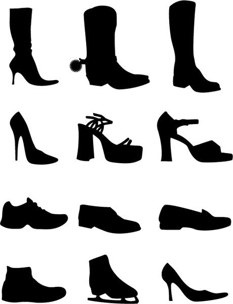 460x600 Shoe Vectors Silhouettes Free Vector In Adobe Illustrator Ai ( Ai