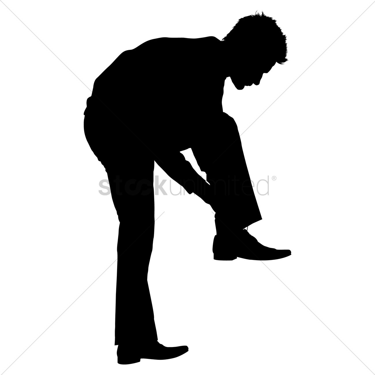 1300x1300 Silhouette Of A Man Wearing Shoe Vector Image