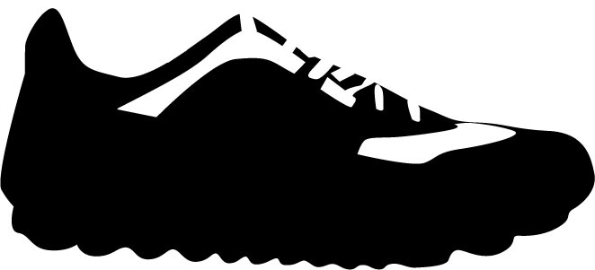 662x301 Shoes Vector Silhouettes