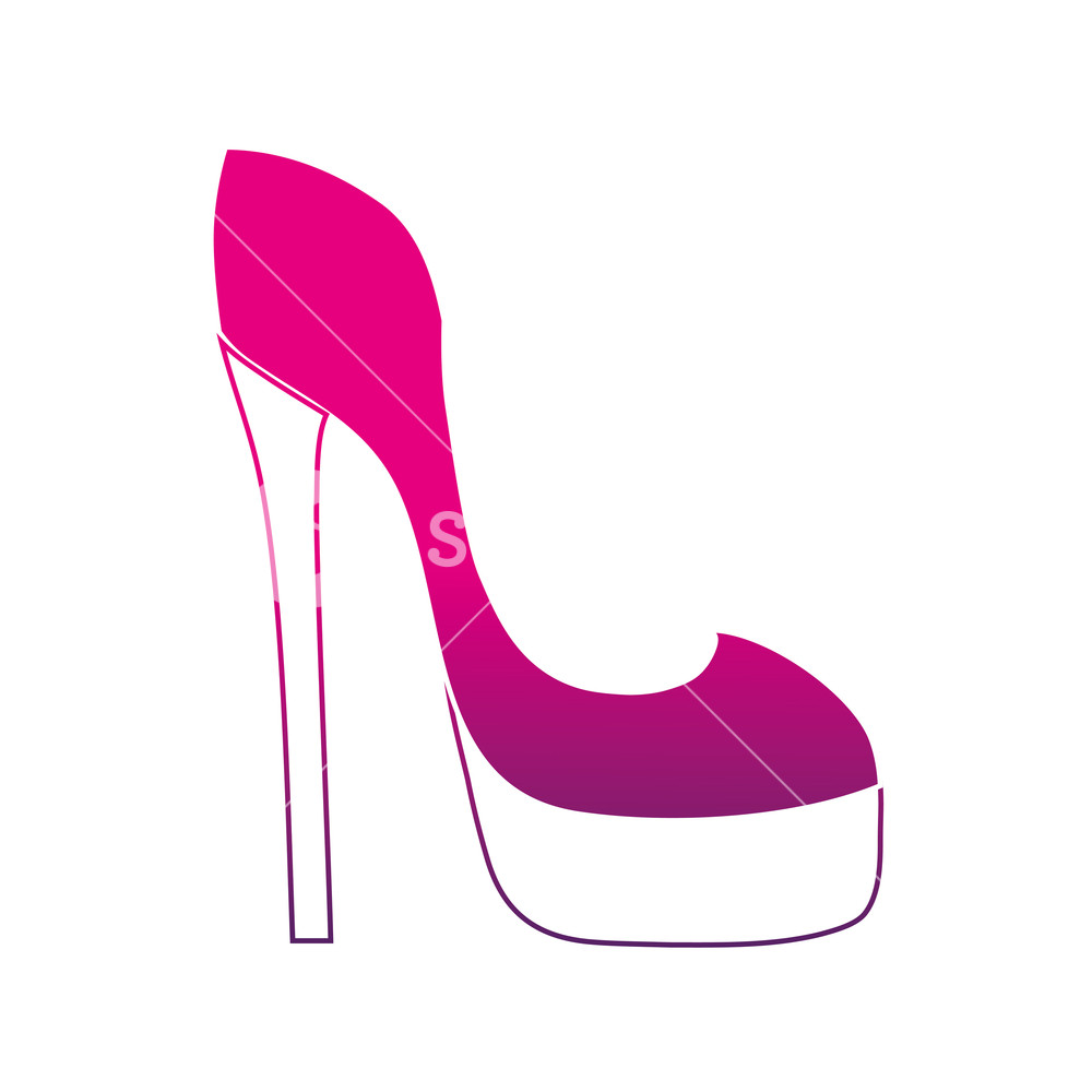 1000x1000 Silhouette Fashion Heels High Shoes Style Vector Illustration