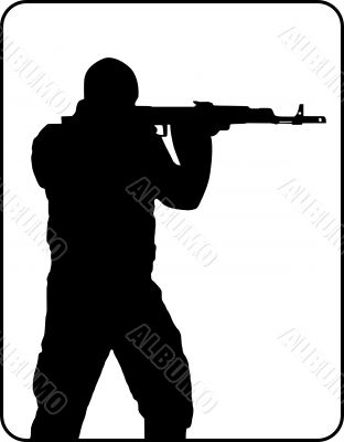 312x400 Shooting Man Silhouette People Rasterized Graphic Fantero