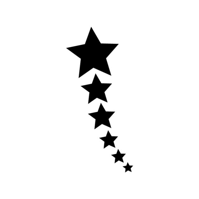 640x640 Shooting Star Stencil