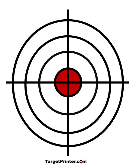 450x550 Printable Crosshair Large Bullseye Shooting Target