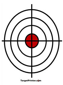 210x280 Printable Large Bullseye Shooting Targets