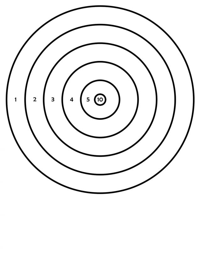 image regarding Printable Air Rifle Targets identified as Taking pictures Concentration Silhouette at  Cost-free for