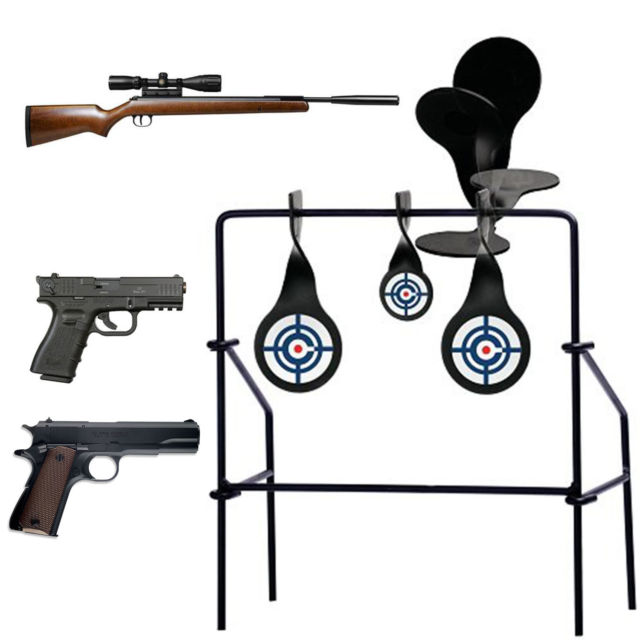 640x640 Crosman Spinning Target Gun Rifle Practice Spinner Steel Metal