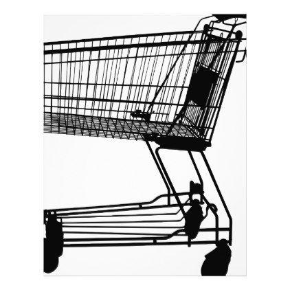 422x422 Shopping Cart Silhouette Letterhead