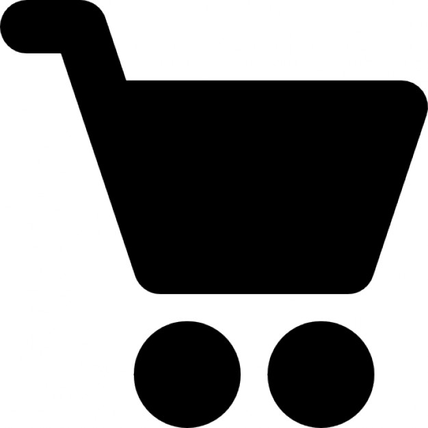 626x626 Shopping Cart Black Side Silhouette Icons Free Download