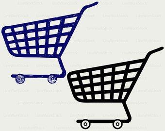 340x270 Shopping Cart Svg Etsy