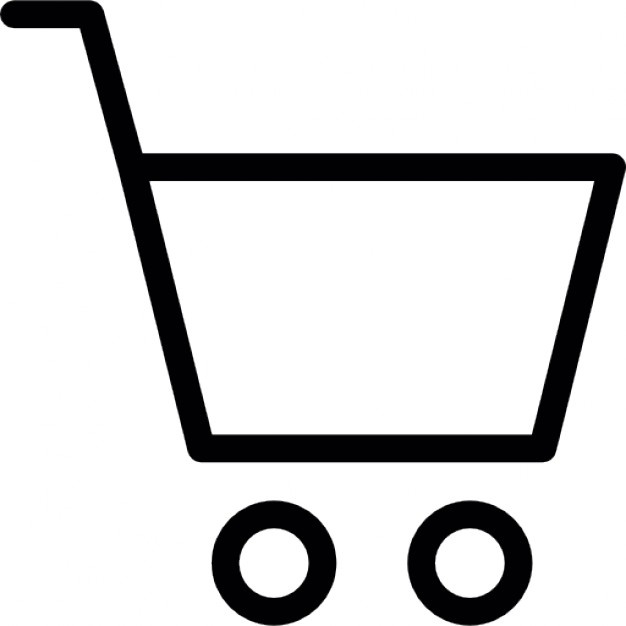 626x626 Shopping Push Cart Silhouette Icons Free Download