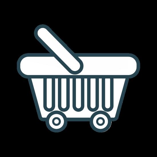 550x550 Silhouette Supermarket Basket Vector Icon Illustration