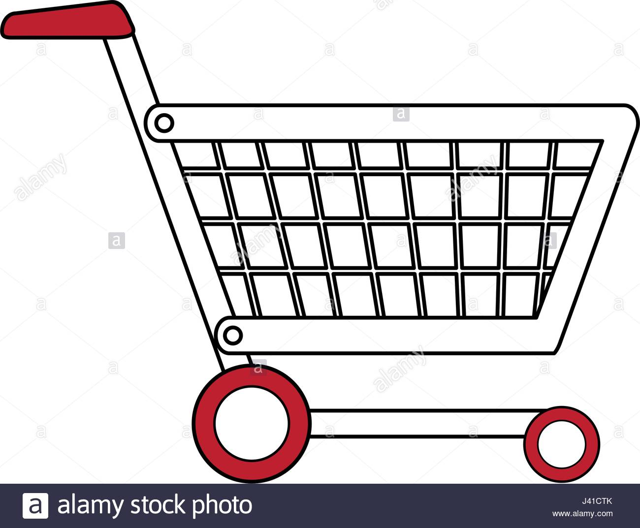 1300x1073 Color Silhouette Cartoon Shopping Cart With Wheels Stock Vector