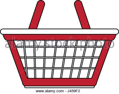 404x320 Color Silhouette Image Shopping Cart Of Supermarket Stock Vector