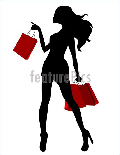 386x500 Girl Shopping Silhouette