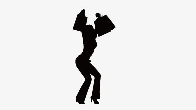 650x366 Shopping Girl Silhouette, Cartoon Beauty, Vector Beauty Png