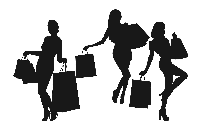 3000x2000 Shopping Silhouette, Shopping Girl, Woman Silhouette, Women Clip