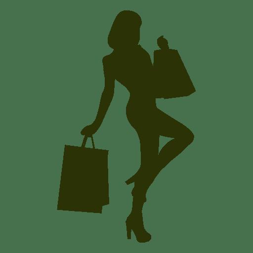 512x512 Shopping Girl Silhouette 3