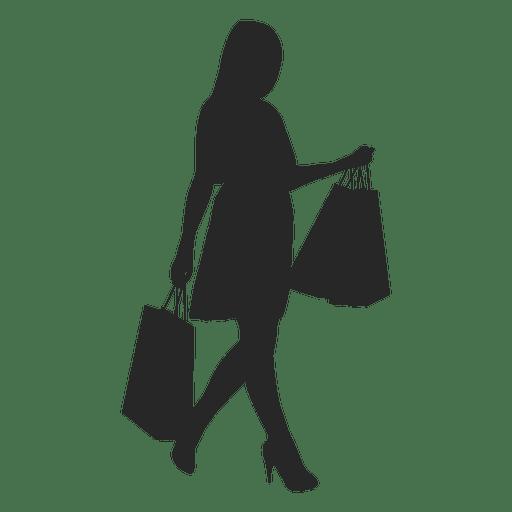 512x512 Girl Shopping Silhouette 5
