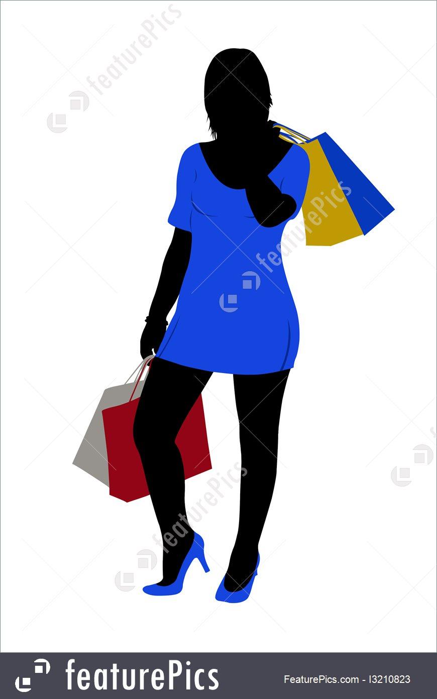 870x1392 Shopping Silhouette Of A Woman Shopping