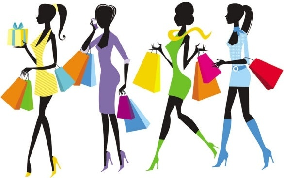 586x368 Shopping Girl Silhouette Free Vector Download (9,438 Free Vector