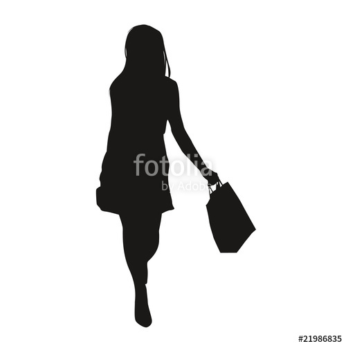 500x500 Silhouette Femme Shopping Stock Image And Royalty Free Vector