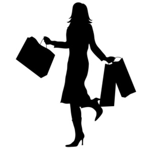300x300 Woman With Shopping Silhouette Smu Free Images