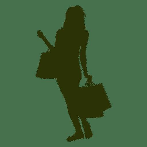 512x512 Woman Shopping Silhouette