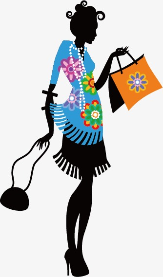 334x569 Shopping Woman Silhouette, Shopping, Woman, Promotions Png