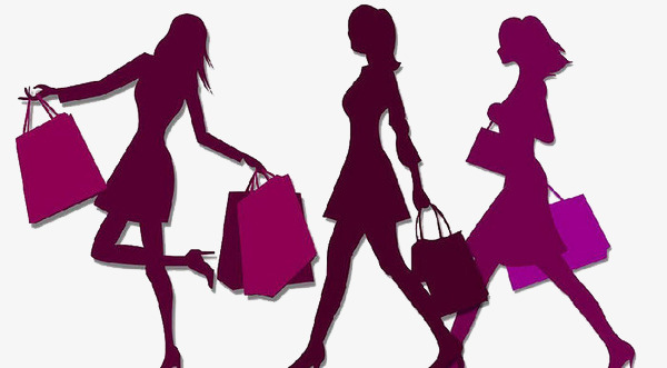 600x331 Woman Silhouette, Shopping Woman Silhouettes, Two Eleven Shopping
