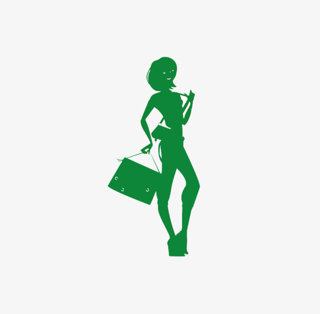 650x637 Short Hair Girl With Green Silhouette, Girl, Green, Sketch Png