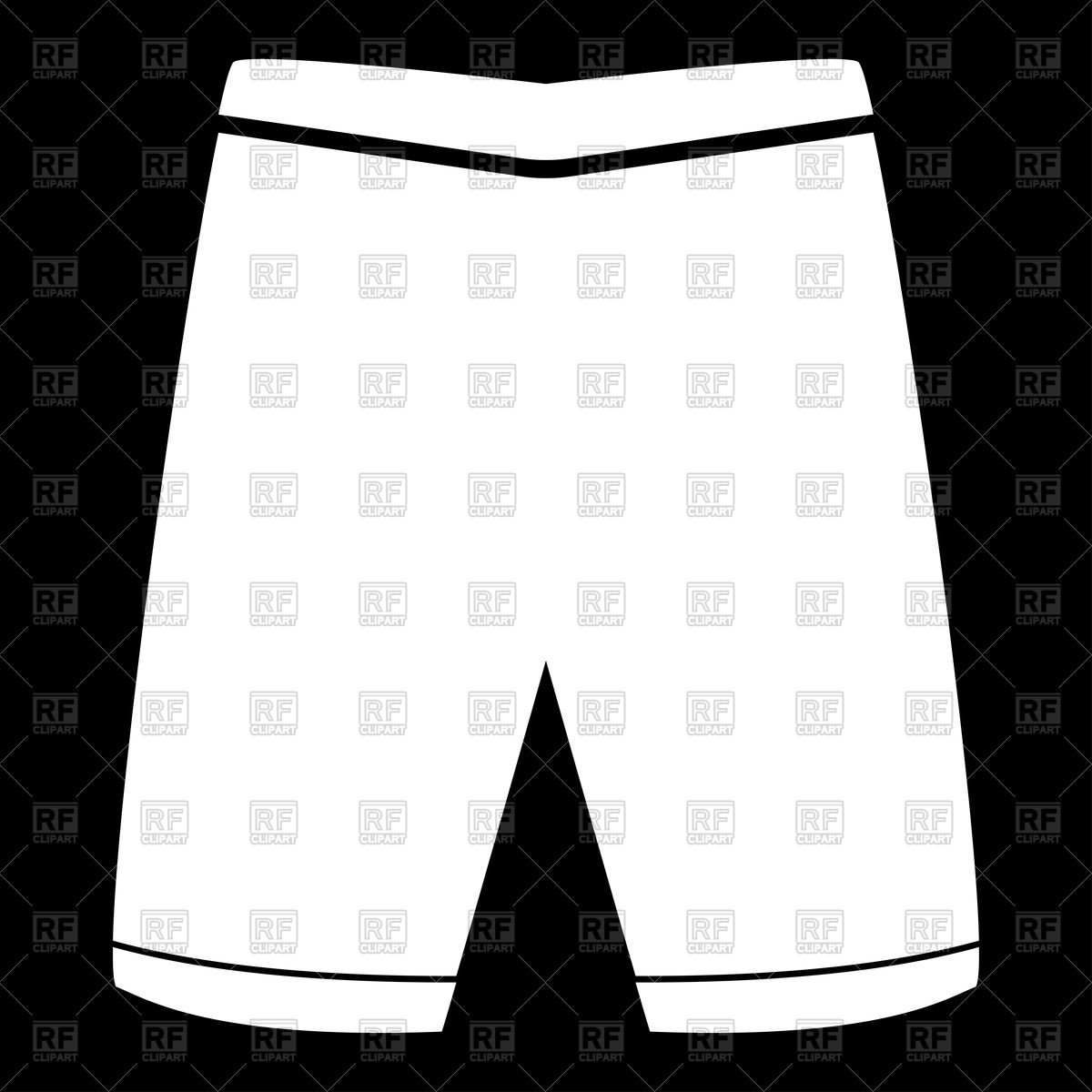 1200x1200 Shorts Silhouette Royalty Free Vector Clip Art Image