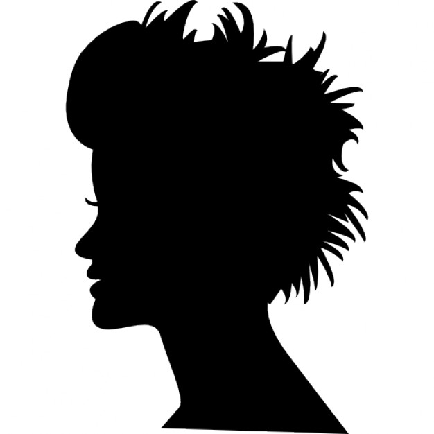 626x626 Head Silhouette With Short Hair Icons Free Download
