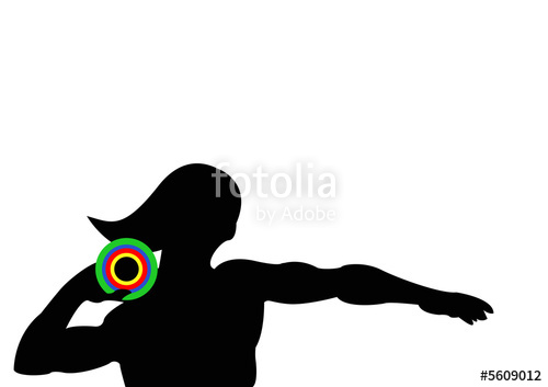 500x353 Olympics Athletics Shot Put Female Stock Photo And Royalty Free