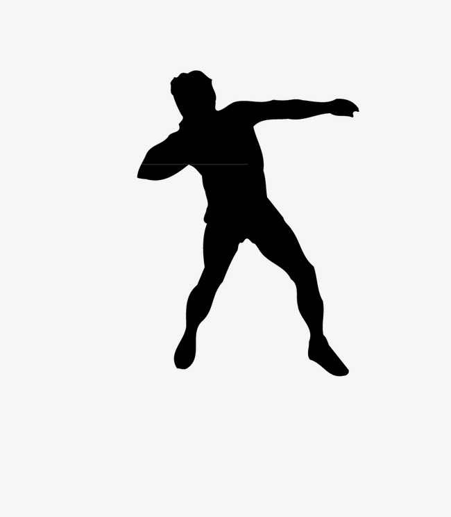 650x744 Silhouette Shot, Shot Put, Sports, Silhouette Image Png And Vector