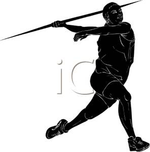 296x300 Silhouette Of A Woman Throwing A Javelin