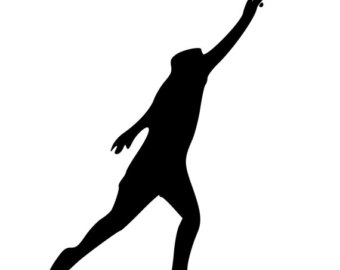 340x270 Track And Field Runner Starting Position 2 Die Cut Decal Car