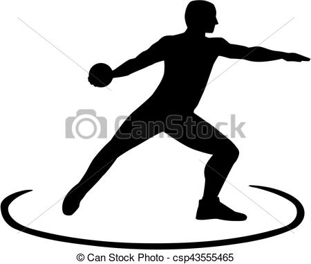 450x381 Discus Thrower Standing In The Circle Clip Art Vector