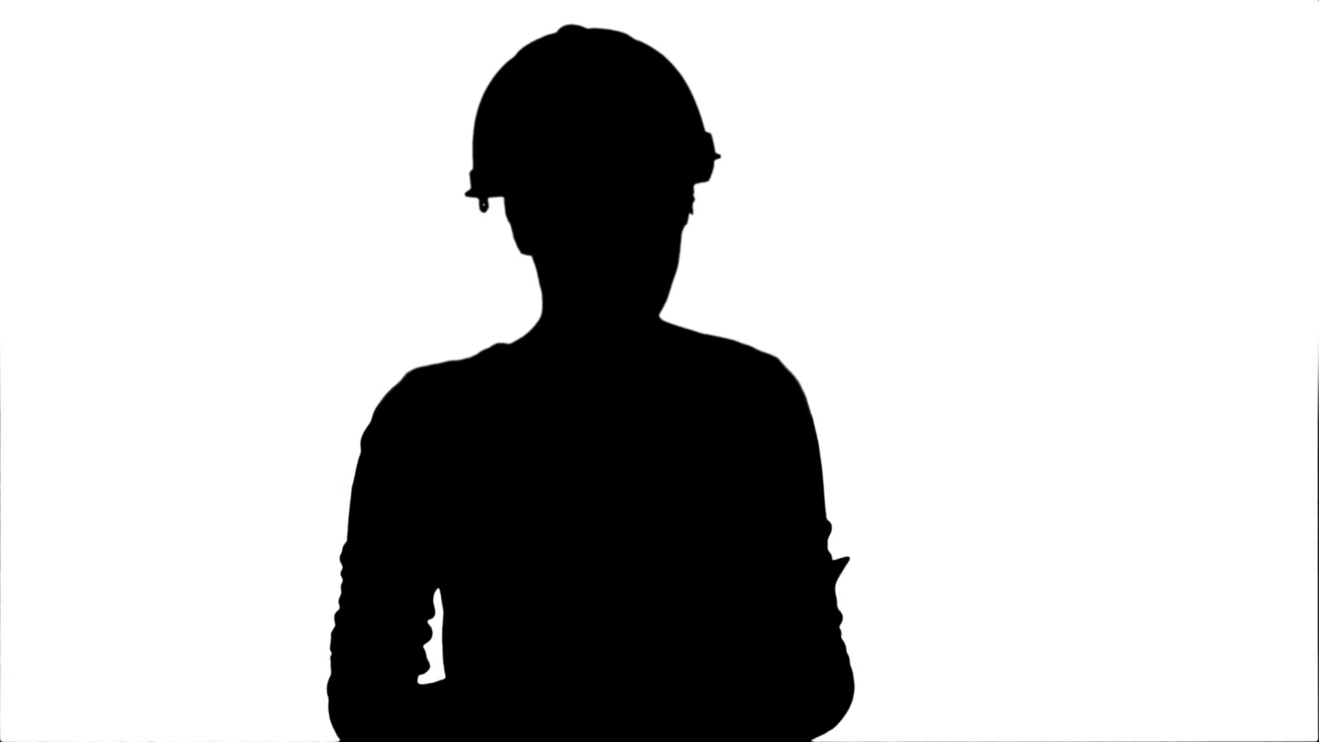 1920x1080 Silhouette Angry Female Engineer In Hardhat With Documents